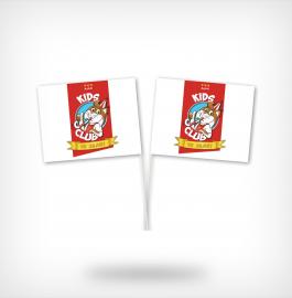 Papieren vlaggetjes